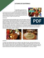 GASTROMOMIA DE LOS CUATRO PUEBLOS DE GUATEMALA