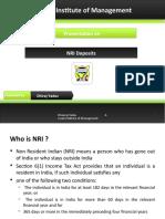 NRI Deposit