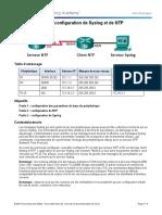 Travaux pratiques configuration de Syslog et de NTP