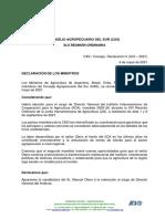 Declaración II. Apoyo Candidatura IICA