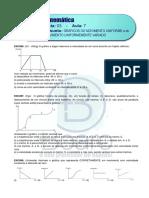 CINEMÁTICA – LISTA 3 - A7- Gráficos - Plataforma FINAL