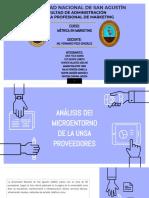 ANALISIS DE MICRO ENTORNO PROVEEDORES