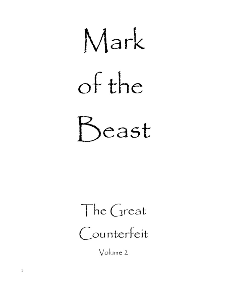 50188551 Mark Of The Beast The Great Counterfeit 2 Holy Grail