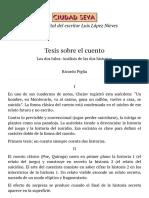 Tesis sobre el cuento - Ricardo Piglia - Ciudad Seva - Luis López Nieves