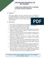 14.1. Plan vigilancia, control y  prevención COVID-19 en el trabajo