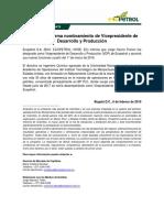 Ecopetrol+Informa+Nombramiento+de+Vicepresidente+de+Desarrollo+y+Producción