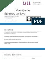 Tema 5. Manejo de Ficheros en Java