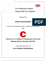 Vinod summer project report on WHOLESALE ACTIVATION for BIL