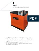 Manual Compresor Tipo Tornillo ENERPOWER - Español - Inglés