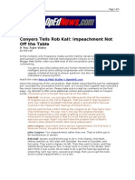 01-29-08 OpEdNews-Conyers Tells Rob Kall_Impeachment Not Off
