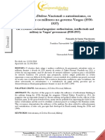 NASCIMENTO; ELÍBIO JR. A revista A Defesa nacional - o autoritarismo, os intelectuais e os militares no governo Vargas (1930