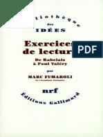 Exercices de Lecture, De Rabelais à Paul Valéry ( PDFDrive )