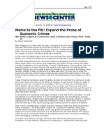 01-31-08 CD-Memo to the FBI_Expand the Probe of Economic Cri