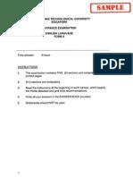English Sample 2004