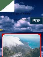 3 Types of Rainfall
