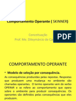 Comportamento Operante ( SKINNER)