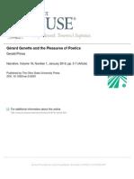 Gérard Genette and the Pleasures of Poetics