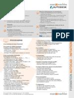 Fiche Formation AutoCAD Initiation 1