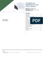 Modélisation d'une Pièce-Yasmine-Modèle 2D coque symétrie-1