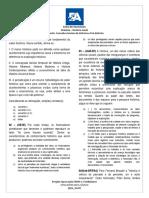 Lista de Exercícios sobre PRÉ-HISTÓRIA e INTRODUÇÃO À HISTÓRIA - PA