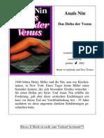 Nin, Anais - Das Delta der Venus