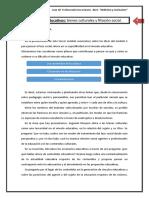 Los contenidos educativos- bienes culturales y filiación social.