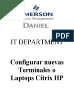 Configurar nuevas Terminales o Laptops Citrix HP (002)