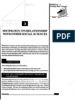 L-3 SOCIOLOGY ITS RELATIONSHIP WITH OTHER SOCIAL SCIEN