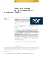 Childhood Obesity and Schools Evidence from the National Survey of Childrens Health