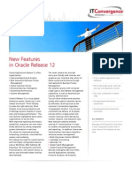NEW FEATURES IN ORACLE RELEASE 12