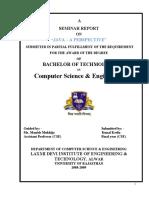 report on java