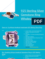 925 Sterling Silver Gemstone Ring Wholesale