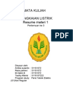 RESUME RANGKAIAN LISTRIK (1)