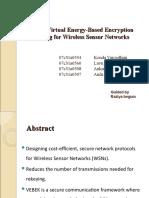 1. VEBEK Virtual Energy Based Encryption and Keying for Wireless Sensor Networks
