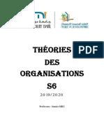 Chapitre Introductif Théories de Organisations Samira MILI 2020