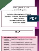 Introduction Generale Du Cours de Controle de Gestion