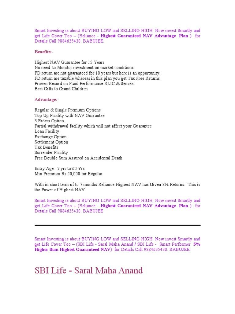 LIC, SBI & Reliance | Life Insurance | Financial Risk