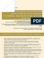 IndonesiaBappenasMainstreamingDRRin
