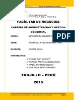ORIGEN DE LA VIOLENCIA POLITICA DEL PERU