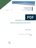 Historia das Instituicoes Politicas IV