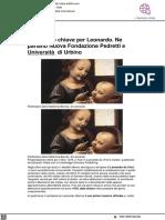 1478, anno chiave per leonardo. Ne parlano Nuova Fondazione Pedretti e Università di Urbino - Artslife.it, 4 maggio 2021