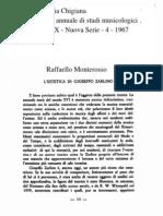 Monterosso, L'estetica di Zarlino