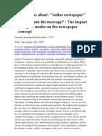 dissertations about online newspaper