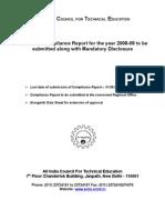 aicte_compliance report (2008-2009)