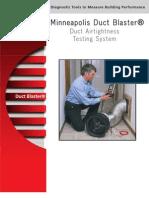 Duct Blaster brochure