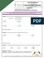 Lista Obrigatoria4 Matemática - 6º ano - para a Prova 14 MAIO (Reduzida)