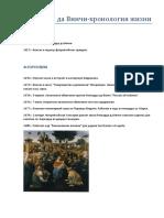 Леонардо Да Винчи - Хронология Жизни