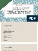 Psicologia e Comunicação Interpessoal