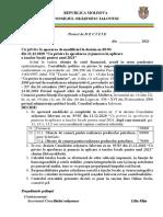 """Proiect de decizie Cu privire la modificarea Deciziei nr.05/03 din 11.12.2020 """"Cu privire la aprobarea şi punerea în aplicare a taxelor locale pentru anul 2021"""""""
