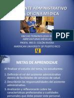 EL ASISTENTE ADMINISTRATIVO EN LA OFICINA MÉDICA